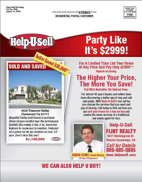 Help-U-Sell Flint Realty mailer, side 1