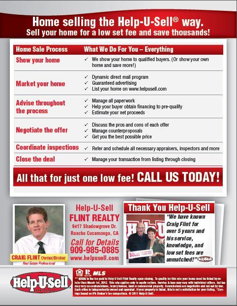Help-U-Sell Flint Realty Mailer, side 2