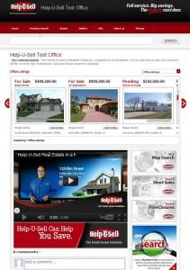 Help-U-Sell Real Estate Broker Site Homepage