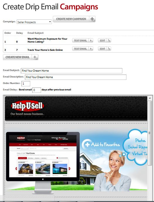 Help-U-Sell Drip Email Module