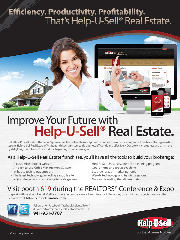 Help-U-Sell Real Estate REALTOR Magazine Ad | Help-U-Sell® Connect