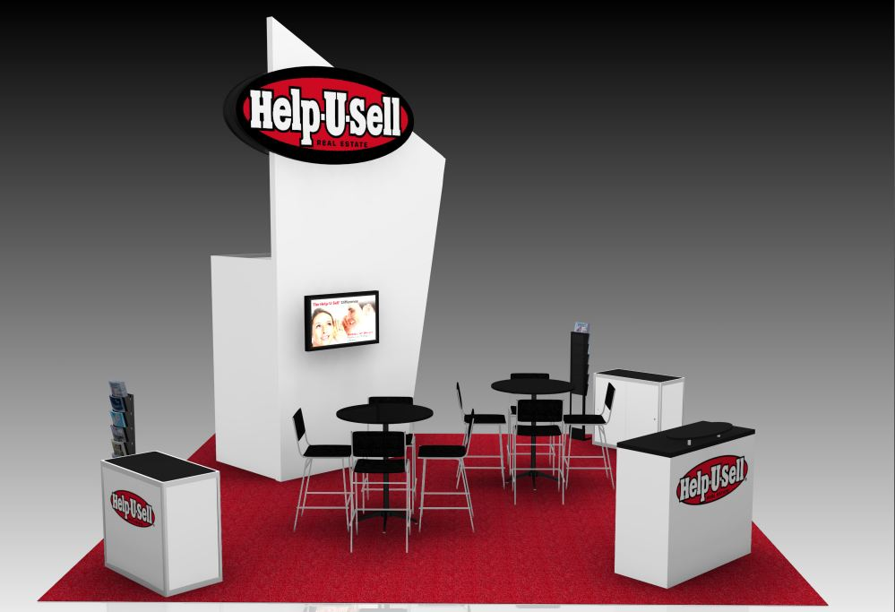 Help-U-Sell Real Estate Booth Rendering