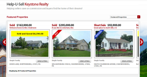 Help-U-Sell Real Estate Sold and Saved Banner