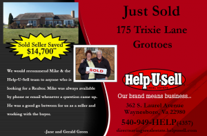 Help-U-Sell Real Estate Just Sold postcard