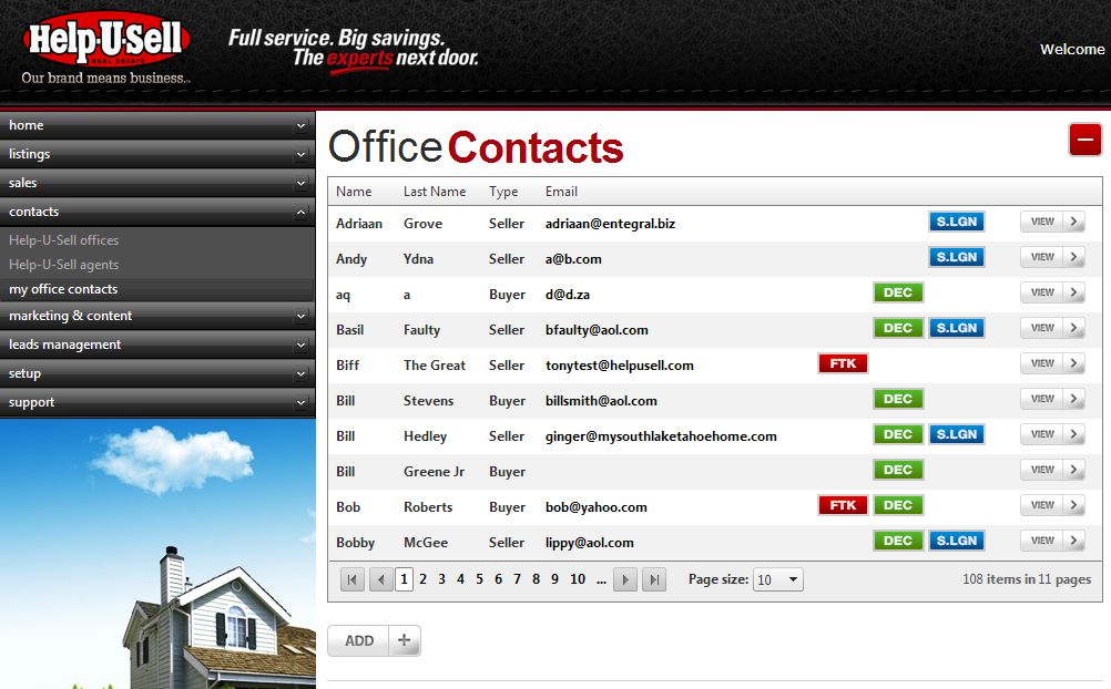 Help-U-Sell Real Estate Office Contacts Module