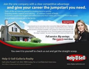 Help-U-Sell Real Estate Recruitment Poster