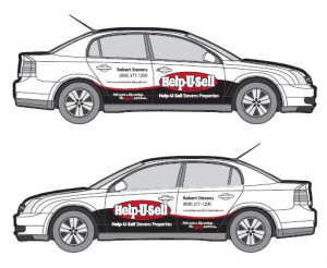 Help-U-Sell Real Estate Car Wrap Designs