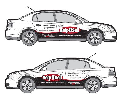 Car Real Estate: Help-U-Sell Real Estate Car Wrap Designs