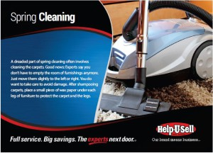Spring Cleaning Real Estate Marketing Postcard