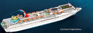 Our 40th anniversary cruise will be aboard the Carnival Inspiration in October.